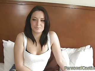 Dicksucking casting amateur banged in pov