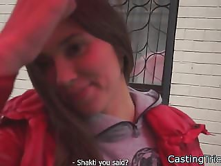 Smalltits babe banged at fake casting