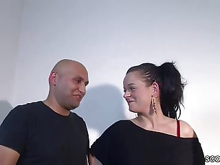 Real German Couple First Threesome Casting With Stranger