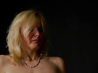 Weeping slut whipped all around her body
