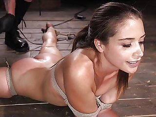 Avi loves to be tied in bondage and tormented by The Pope