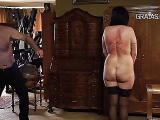 Chubby slut back whipped