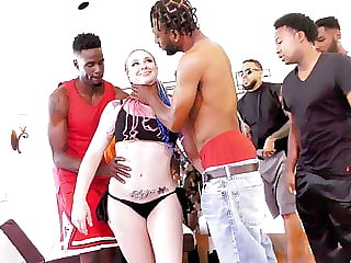 Leya Falcon Interracial Orgy