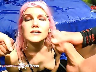 Pink Haired babe knows how to deepthroat and satisfy - GGG