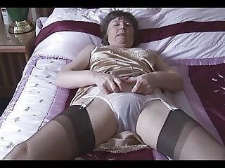 Granny in her Lingerie and Nylons