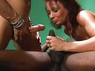 Bisexual Threesome and Strapon