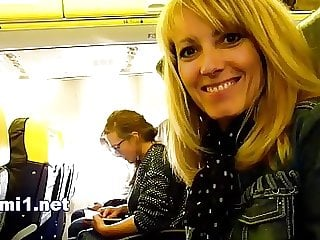 handjob in the airplane