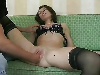 Skinny Amateur fist herself and gets fucked later