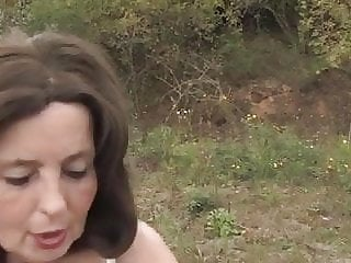 Hot Granny Outdoors by young Guy