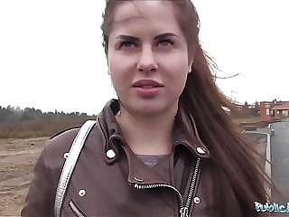 Public Agent Wet Russian Spreads Legs For Cash