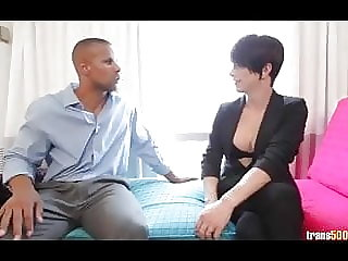 Shemale Nina Lawless getting her ass stuffed and fucked