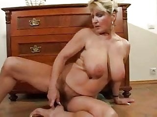 Hairy Busty Mature Milf Strips and Toys