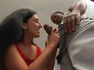 Mature white woman stripped by black guy