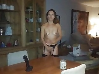 Married Couple Roleplay with Big Black Dildo