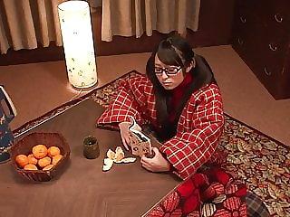 Horny schoolgirl masturbates solo while studying