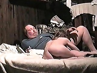 With step dad on webcam amateur