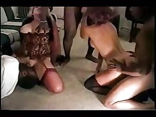 Wives interracial orgy