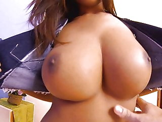 He licks my wet pussy while squeezing my busty Asian boobs