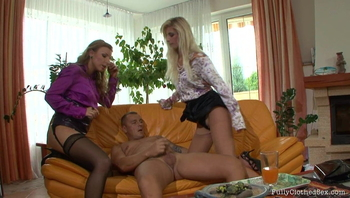 Guy Gets Lucky With Two Beauties