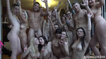 Huge Czech Harem GangBang
