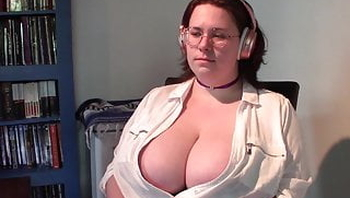 Watching a HypnoVid Tiny Bra and Blouse