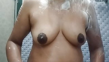 Sister in law taking bath