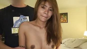 Japanese man creampies big titty Thai girl