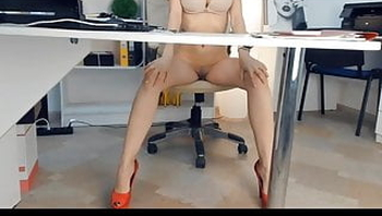 SEXY LADY CAMS IN OFFICE