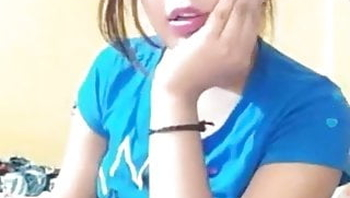 Cute girl video call