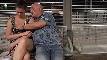 MyDirtyHobby - Stepdad fucks daughter in front of a stranger