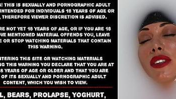 Anal, bears, prolapse, yoghurt, fisting just Hotkinkyjo bath