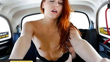 Fake Taxi Cute czech Redhead Charlie Red striptease and fuck