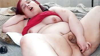 BBW Trans girl fucks her sexy ass