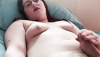 Thick Trans Girl Jerking and Cumming
