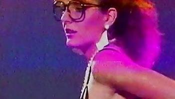 Vintage 80's secretary lingerie striptease