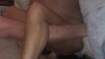 Wife cumming on strange cock