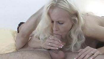 Czech blonde GF forced blowjob and rough sex