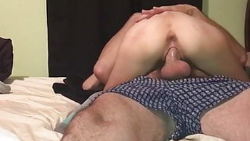 Skinny tattooed wife has oral orgasm and riding creampie