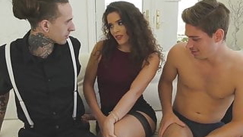 Bi Ruckus and Michael DelRay threeway fucking with hot chick