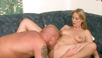 blonde normal german housewife tries first time porn casting
