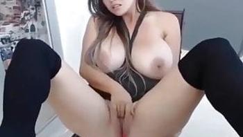 Huge Boobs Latina Masturbates And Feel Multiple Orgasms