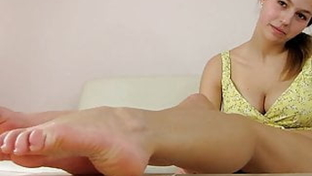 German Brunette Talks about her Feet