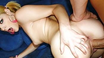 Playful Blonde Teen Tart Ally Ann Loves a Mature Cock