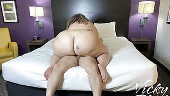 Fat Ass Vicky Riding at the Hotel