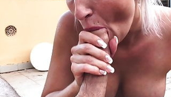 I ride and suck his cock until he squirts into my pussy