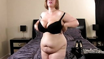 Big tits BBW Cougar on the prowl fucks her son in law