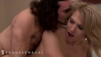 Trans Sensual - Horny blonde tranny loves to get fucked in the ass