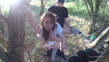 LN´s#47 Super Hot Outdoor Quickie, Cute Wife Fucked, Standing Fire Hydrant