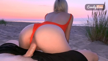 Quick Fucking on the Public Beach *someone saw Us* Outdoor Sex at Sunset 4k
