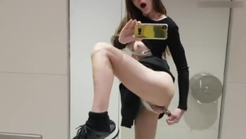 MissAlice Quickie in Public Restroom